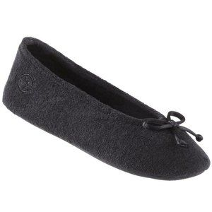 Isotoner Large 8-9 Terry Cloth Ballerina Slippers